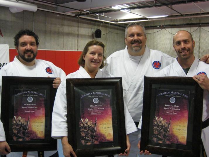 Colahan Martial Arts Shodan Certificates