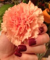 My manicure survived yard work!